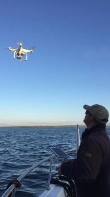 Drone from boat